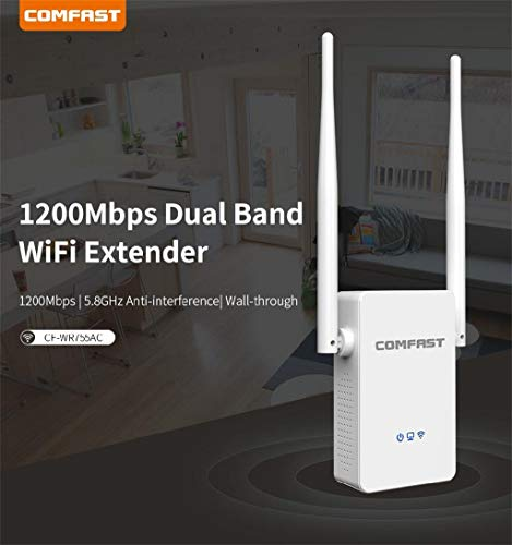 TriLance Aigital WiFi Router,Dual-Band-WLAN-Repeater mit 1200 Mbit/s und Wireless Range Extender-Booster-Netzwerk WLAN Repeater Verstaerker Range Extender Wi-Fi Signal-verstärker Wireless 2,4G 5G -