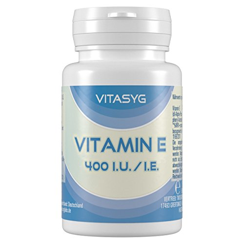 Gelatine 250 Kapseln (Vitasyg 400 i.E. / i.U. Hochdosiertes Vitamin E, 250 Kapseln, 1er Pack (1 x 150g))