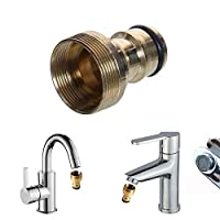 ‏‪VANPOWER Garden Water Connectors, Universal Kitchen Tap Connector Mixer Hose Adaptor Pipe Joiner Fitting()‬‏