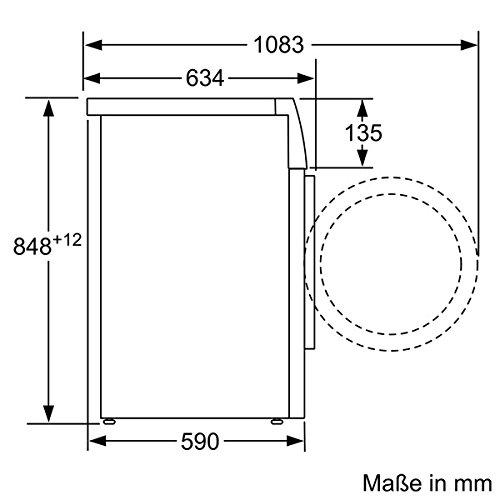 Siemens iQ700 WM14W540 Waschmaschine / 8,00 kg / A+++ / 137 kWh / 1.400 U/min / Schnellwaschprogramm / Nachlegefunktion / aquaStop mit lebenslanger Garantie / - 8