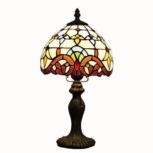 Tiffany-Tischlampe, barocke Buntglas-Lampe für kreatives Schlafzimmer Durchmesser 8 Zoll kleine Lampe