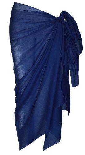 Sarong aus Baumwolle, Mittelblau
