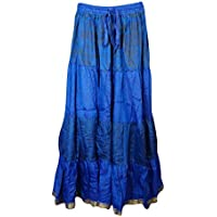 Mogul Interior Womens Maxi Skirts Bellydance Full Flare Boho Chic Skirt