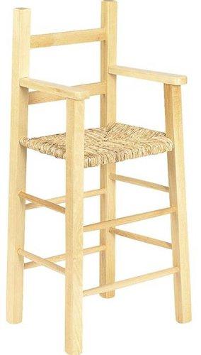 Chaise haute pour enfant en hêtre naturel verni...