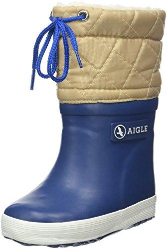 Aigle - Giboulee - Botte de neige - Mixte enfant - Bleu (Indigo/Grege) - 21 EU
