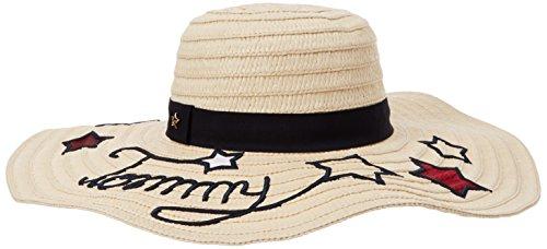 Tommy Hilfiger Damen Sonnenhut Tommy Stars Straw Hat, Beige (Natural 203), One Size (Herstellergröße: OS)