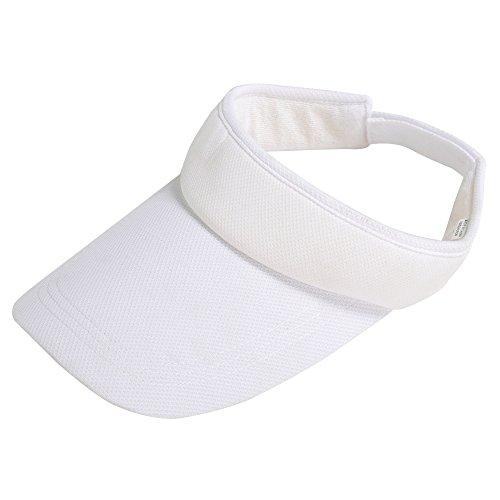 TRIXES Sport-Stirnband/-Mütze/-Hut mit Sonnenblende, verstellbar zum Golf-, Tennisspielen und Angeln, weiß, - Gute Angel Kostüm