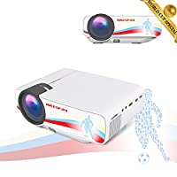 BeamerKing LED Video Projector, Portable Mini Multimedia Football Themed Projector 1500 Lumens Support Full HD 1080P to Laptop Smartphone PS4 Xbox TV Box