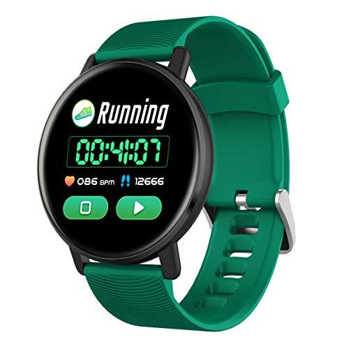 Wasserdicht Männer und Frauen Smart Watch H5-Puls-Monitor Blutdruck Smart Watch Kleidung Accessoires, Grün, One Size