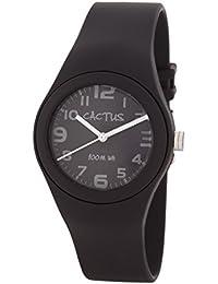 Cactus CAC-76-M01 - Reloj de pulsera niños, Plástico, color Negro