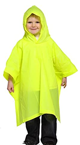 Child Waterproof PVC Rain Poncho with Hood - 4-6 years