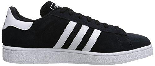 Adidas Originals Campus moda della scarpa da tennis, foschia Ardesia nero / bianco, 11 M Us Black/White/Black