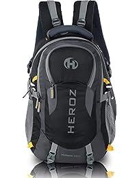 HEROZ Hammer Nylon 35 L Slim Durable Grey and Black Travel Laptop Bag for  Men f1f1f60d2528e