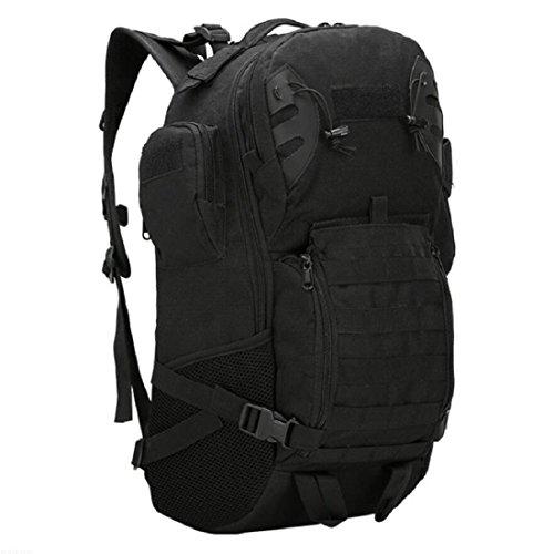 LF&F Backpack Camping outdoor Zaini Borse Alpinismo Escursioni Sport all'aria aperta Campeggio Camuffamento Oxford Tactical Zaino Indossare impermeabile Confortevole Trasporto breathable 45L Big Backp D