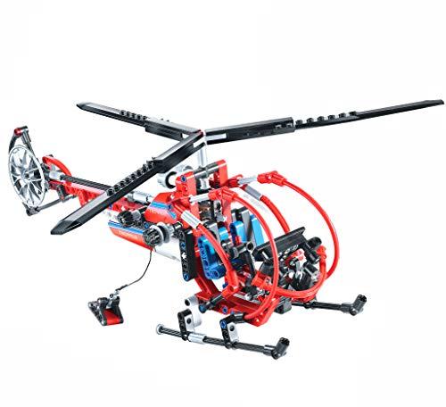 Modbrix Technik Bausteine Hubschrauber Helikopter Transporthubschrauber Konstruktionsspielzeug 300 Teile