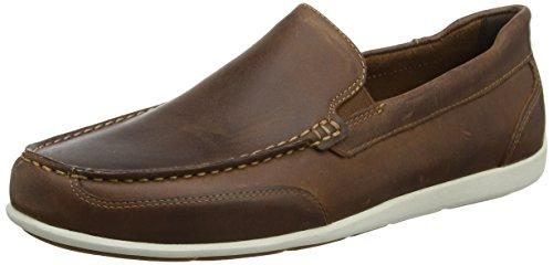 Rockport Herren Bennett Lane 4 Venetian Slipper, Braun (Cognac Leather), Braun (Cognac Leather), 44.5 EU (10 UK) (Leder Bennett Braun)