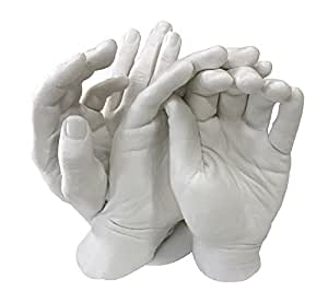 family hands casting kit by vesey gallery 1 kilo of alginate and 4kg of stone plaster. Black Bedroom Furniture Sets. Home Design Ideas