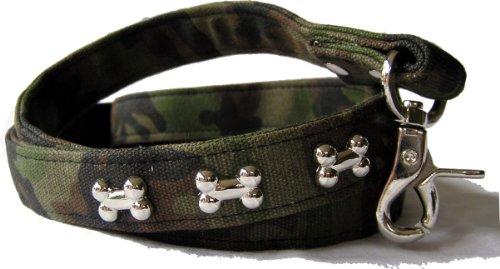 Bild von: Leine Camouflage aus kräftigen Canvas Material - Dogs Stars - 3 verschiedene Breiten