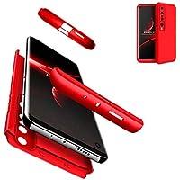 JJWYD Funda para Xiaomi Mi 10, Carcasa Ultra Slim Anti-Rasguño y Resistente Huellas Dactilares Protectora Caso de Duro Cover Case para Xiaomi Mi 10 - Rojo