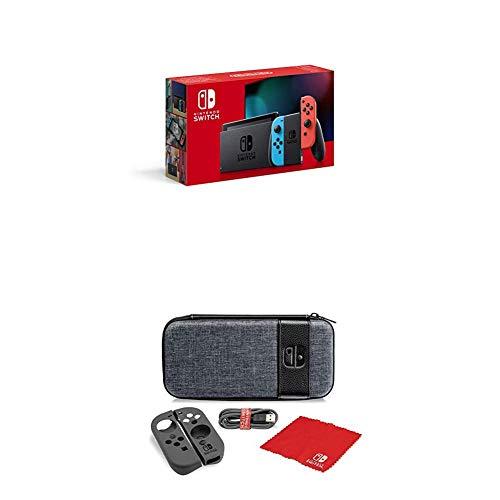 Nintendo Switch avec paire de Joy-Con Rouge Néon et Bleu Néon + Kit de démarrage - Elite Edition