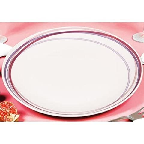 Tognana 30 cm Round Pearl Granada Coupe Platter, White