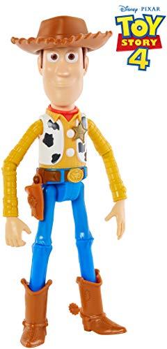 Mattel GGX34 - Toy Story 4 Woody Figur, 17 cm Spielzeug Action Figur ab 3 Jahren (Disney Figur Kostüm Kinder)