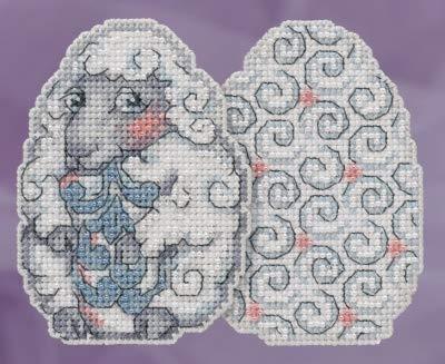 JS181815 Kreuzstich-Set mit Schaf-Ei-Perlen, für Ostern, Mill Hill 2018