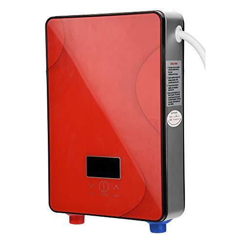 Fdit 8500W / 6500W Instant Intelligente elektrische Durchlauferhitzer 220V + 3-teiliges Duschset Gold/Rot (6500W Rot)