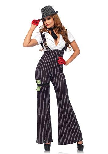 LEG AVENUE 85560 - Brass Knuckle-Baby-Kostüm-Set, Damen Fasching, L, schwarz/weiß