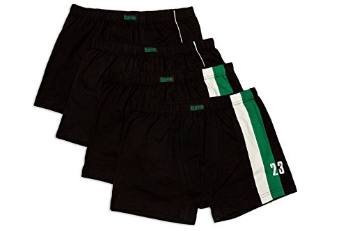 Herren Retro-Pants aus Baumwolle, sportliches Design, bis Größe 14, 4 Stück - Frank Fields, Farbe:grün, Größe:7