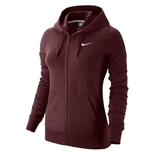Nike Damen Full Zip Hoodie, Dark Team Red/White, XL Nike Lightweight Sweatshirt