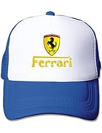 MaNeg Ferrari Team Funny Trucker Gorro Talla única de Malla con Tapas 876f902d5a7