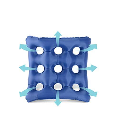 Dekubitus Kissen, Comfort Air Aufblasbare Gesäß Dekubitus Sitzkissen mit Pumpanzug für Rollstuhl, Auto, Büro, Zuhause, Bett (blau),A