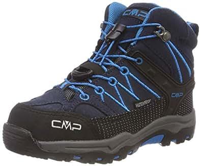 CMP Unisex Rigel Mid Wp Trekking-& Wanderstiefel , Grau (Asphalt-Cyano 92bh) , 34 EU