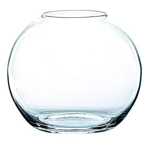 INNA-Glas Jarrón Redondo Tobi de Cristal, Transparente, 17cm, Ø ...
