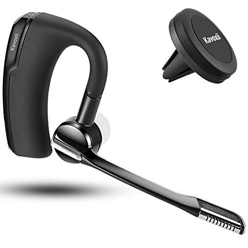 Romote Casque d'écoute Bluetooth, Sweatproof In-Ear Écouteur avec Mic Holder + Support voiture inclus - Compatible
