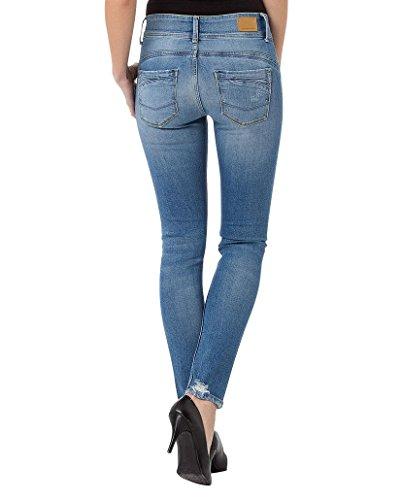 Cross Damen Skinny Jeans Melinda Light Mid Blue Destroyed (013)