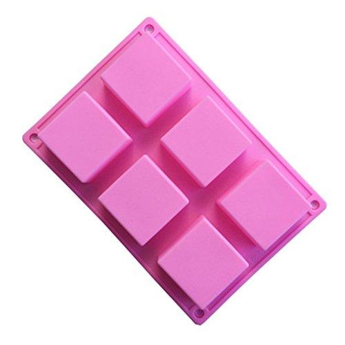 LanLan Seifengie?en Gie?formen Nette Silikon 6 Loch quadratische Kuchen Form, die Werkzeug Seifen Form macht