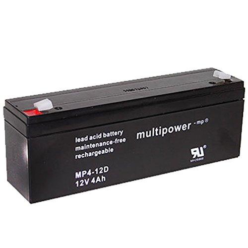 Preisvergleich Produktbild Multipower Blei-Gel Akku MP4-12D / 12V / 4Ah / MH26866 / Zyklenfest