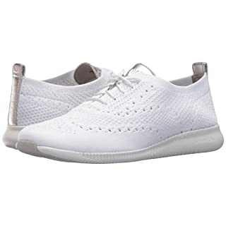Cole Haan Women's 2.Zerogrand Stitchlite Oxford Knit/Ch Argento Metallic/Optic White Opt Kt/ARG/Wht, 8 (41 EU)