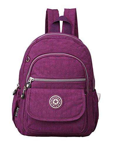 Keshi Leinwand Cool Damen accessories hohe Qualität Einfache Tasche Schultertasche Freizeitrucksack Tasche Rucksäcke Lila