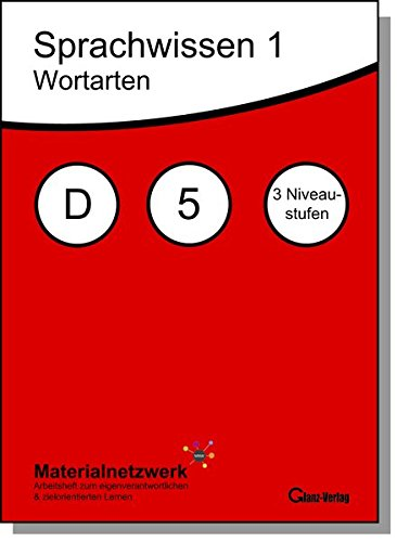 Sprachwissen 1, Wortarten, Deutsch 5, alle Niveaustufen: Materialnetzwerk: Arbeitsheft zum eigenverantwortlichen & zielorientierten Lernen (MOOC it)