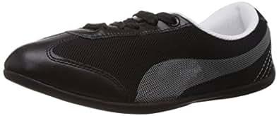 Puma Women's Karlie DP Black and Gray Violet Mesh Sneakers - 5 UK/India (38 EU)