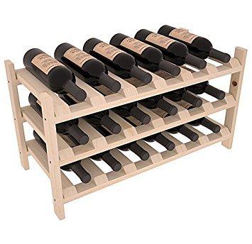 Weinregalen America Kiefer Kiefer 18Flasche stapelbar. 13Flecken von zu wählen. (Unstained) - Modular Wine Rack