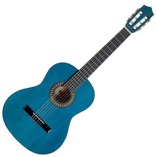 Stagg C542 TB - Guitarra clásica (tamaño 4/4), color azul