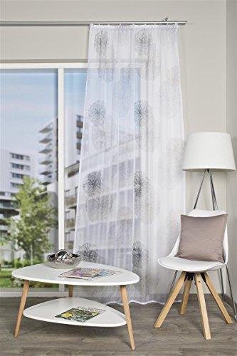 Home living idee tenda con passanti in voile con stampa pagine e orlo foderato 100% poliestere 145x 140cm rawlins grigio