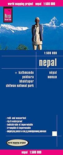 Nepal, mapa de carreteras impermeable. Escala 1:500.000. Reise Know-How. por VV.AA.