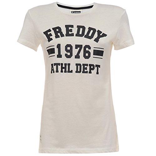 Freddy F6Wtct4, T-Shirt Donna, Bianco (Off White), Medium (Taglia Produttore: M)