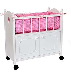 Himmelbett Puppenbett Bett Puppenmöbel Puppe Wiege 8768 Babypuppen & Zubehör Puppen & Zubehör