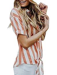 55db5e9ca33 MERICAL T-Shirt à Manches Courtes à Manches Longues pour Femmes